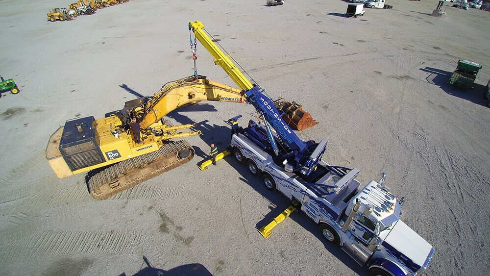 Equipment hauling service