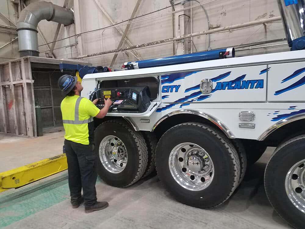 Heavy equipment hauling service