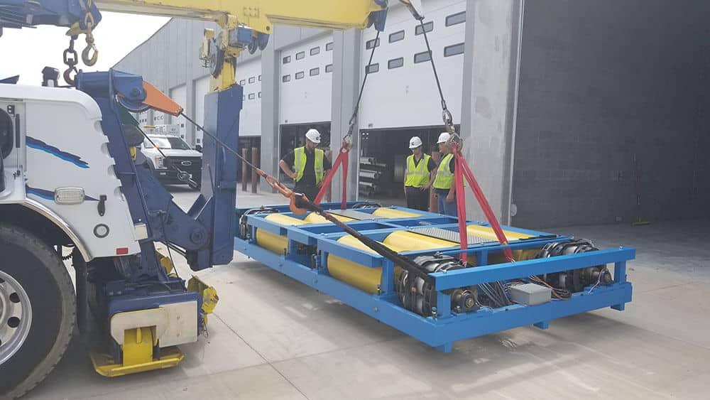 Machinery lifting/placing